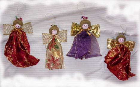 Craft Ideas Ribbon on Ribbon Angel Christmas Ornament