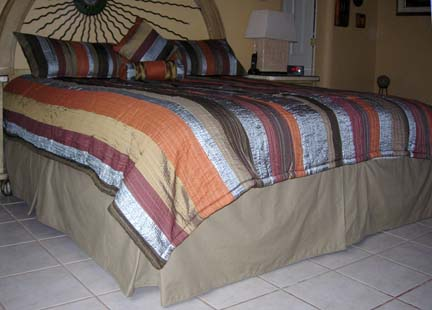 How to Make a Bed Skirt. Custom Make Your Own Bed Skirt. Bed Skirt Picture