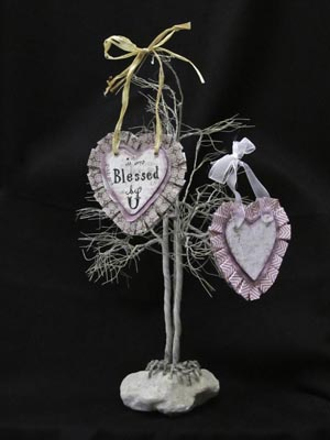 Heart Collage Ornament