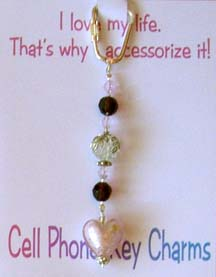 Beaded Key Rings or Cell Phone Charms3