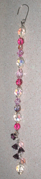 Beaded Icicle Christmas Ornament