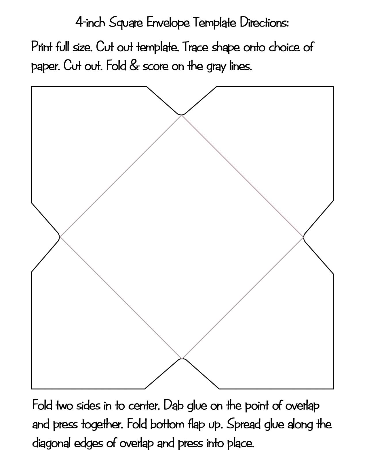 6 x 8 envelope template - square envelope template the image kid
