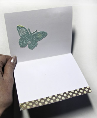 Embossed Die Cut Butterfly Card for Card Care Connection
