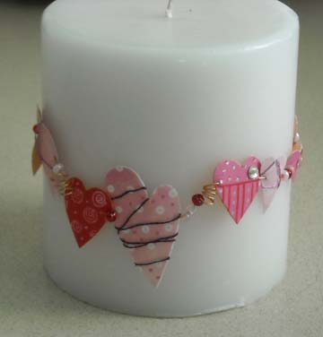 Valentine Wreath Candle