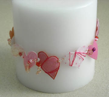 Completed Valentine Wreath Candle