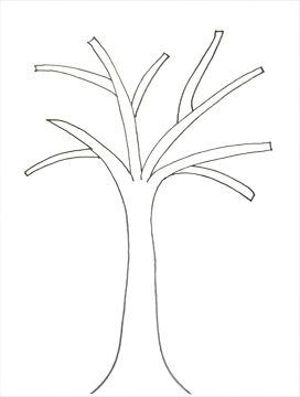 palm tree trunk template