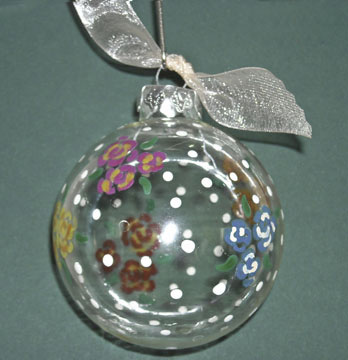 Paint Swirled Ornament - Crafts For All Seasons