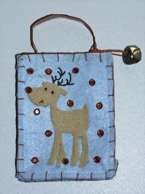 Reindeer Gift Card Mini-Bag
