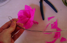 Paper Flower Assembly 8