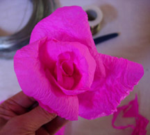Paper Flower Assembly 6