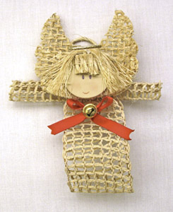 Country Look Angel Holiday Ornament