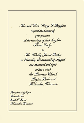 using ms word to compose an elegant invitation wedding invitation sample wedding invitation letter sample